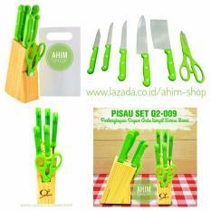 Miliki Segera Q2 8Pcs Kitchen Knife Set Pisau Dapur Stainless Steel Memasak Jadi Menyenangkan
