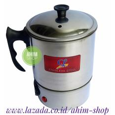 Beli Q2 New Model 8212 12Cm Pemanas Air Mug Teko Panci Listrik Full Stainless Steel Electric Heating Cup 190W Seken
