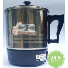 Q2 New Series 15cm Pemanas Air Mug Teko Panci Listrik Stainless Steel - Electric Heating Cup 190W