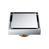 Pusat Jual Beli Qf1410 Kuningan Chrome Disepuh Self Sealing Floor Drain Air Limbah Drainer Silver Hong Kong Sar Tiongkok
