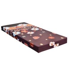 Quantum Kasur Busa Size 160 x 200 Motif Flower - Coklat - Khusus Jabodetabek