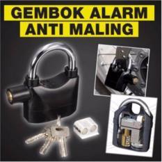 QuincyHome Gembok Alarm Super Kuat Serbaguna - Anti Maling - Original - Ring Panjang