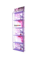 Spesifikasi Radysa Hanging Bag Organizer Karakter Zipper Rak Tas Gantung Bunga Ungu Online