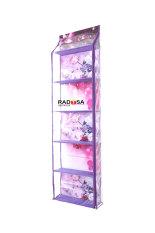 Model Radysa Hanging Bag Organizer Karakter Zipper Rak Tas Gantung Bunga Ungu Terbaru