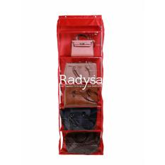 Radysa Hanging Bag Organizer Zipper Rak Tas Gantung Resleting - Merah
