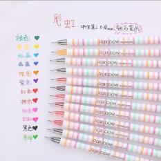 Warna-warna-warni pelangi 0,38 mm pena Gel. 12 pack hadiah