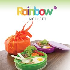 Promo Rainbow Set Lunch Box 3 Kotak Makan 1 Set Maistore