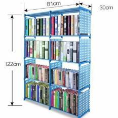Rak Buku Portable / Lemari Serbaguna 2 Sisi 85 x 30 x 125 CM
