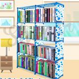 Ulasan Rak Buku Portable Lemari Serbaguna 2 Sisi Blue Love