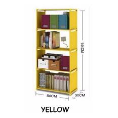 Rak buku serbaguna - rak portable 4 susun - kuning