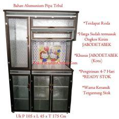 Rak Dapur Piring Lemari Alumunium Keramik Tebal YRK
