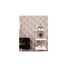 samju rak Dinding 3 Susun Putih Tali Putih Minimalis- Vintage- Dapur- Kayu Gantung- Kamar Mandi- Shabby