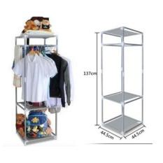 Rak gantung 3 tingkat - rak baju serbaguna