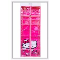 RAK JILBAB Gantung Hanging JILBAB Organizer (HJO) Hello Kitty PINK Berkualitas