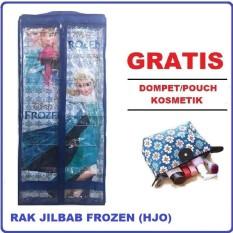 Rak Jilbab Gantung Karakter 6 Tingkat (GRATIS PROMO) Dompet/ Pouch Kosmetik