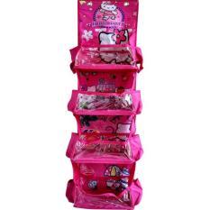 Rak Kosmetik Gantung Sleting 4 Susun Karakter Hello Kitty