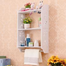 Rak Lemari Gantung Dinding Tembok Serbaguna Multifunction Wall Storage Cabinet Floating Shelves Selves Shelf Rack Minimalis Putih Kamar Mandi Vintage