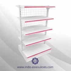 Rak Minimarket Dua Sisi 150cm 5 Leveling (IGA3-1.5 8+2)