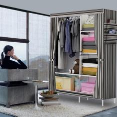 Toko Rak Pakaian Plastik Furniture Murah Lemari Baju Gantung Lemari Handuk Lemari Sprei Handuk Tas Salur Black Lengkap