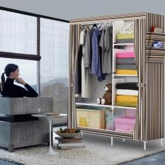 Rak Pakaian Plastik Furniture Murah Lemari Baju Gantung Lemari Handuk Lemari Sprei Handuk Tas Salur Chocolate