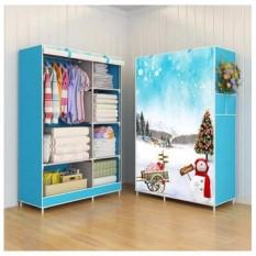 Rak Pakaian Plastik Furniture Murah Lemari Baju Gantung Lemari Handuk Lemari Sprei Handuk Tas Snowman 2 Kolom