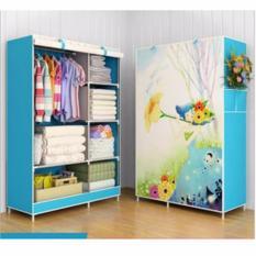 Rak Pakaian Plastik Furniture Murah Lemari Baju Gantung Lemari Handuk Lemari Sprei Handuk Tas Flawer2