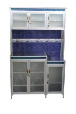 Rak Piring 3 Pintu Magic Com List - Biru By Simpati Furniture.