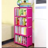 Beli Rak Portable Serbaguna Rak Buku Serbaguna 5 Susun Lemari Penyimpanan Small Size Pink Polos Kredit Indonesia