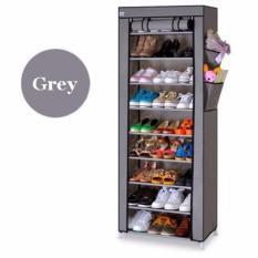 Beli Rak Sepatu 10 Layer 9 Grid 10Th Shoes Rack Storage Wakuwaku Asli