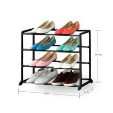 Rak Sepatu 4 Susun Plastik Besi Amazing Shoe Rack Tempat Sandal