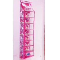 RAK SEPATU Gantung Hanging SHOES Organizer (HSO) HELLO KITTY Pink Full SLETTING