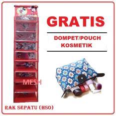 Rak Sepatu Gantung Karakter 9 Tingkat Karakter (GRATIS PROMO) Dompet/ Pouch Kosmetik/ Masker Wajah