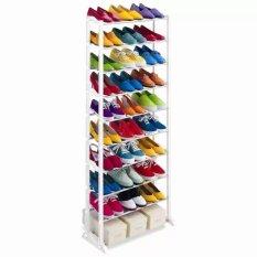 Rak Sepatu Portable 10 Susun - Muat hingga 30 pasang Sepatu