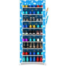 Rak Sepatu Portable 10 Susun / Shoe Rack With Dust Cover - Bluefeet