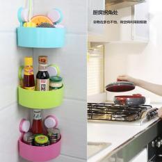 Rak Sudut Gantung Ruang Tamu Ruang Makan Tidur Dapur Kantor Kamar Mandi Teras Rak Multifungsi Warna Random 3 pcs