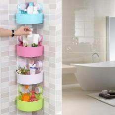 Rak Sudut Siku Serba Guna Gantungan Kamar Mandi Toilet Kamar Tidur Dapur Wadah Tempat Mandi Warna Random 4 pcs
