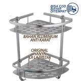 Beli Rak Sudut Toilet Aluminium 2 Tingkat Rak Besi Sudut Kamar Mandi Rak Sabun Aluminium Rak Shampo Tempat Gantung Lazpedia Online Terpercaya