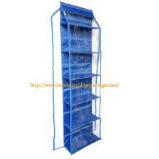 Jual Rak Tas Murah Hboz Hanging Bag Organizer Hbo 6 Susun Plus Zipper Biru Tua Branded
