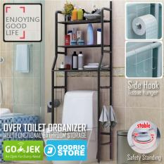 Rak Toilet Organizer WC Tissue Sabun Kloset Kamar Mandi 165 x 50 x 26 - Hitam