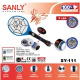 Raket Nyamuk Charge Senter 5Led Sanly Diskon 40