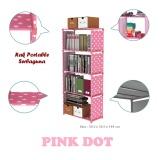 Jual Beli Rakuku Rak Buku Serbaguna 5 Susun Portable Pink Polkadot Di Dki Jakarta
