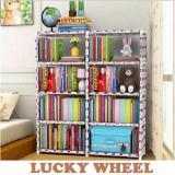 Rakuku Rak Portable Lemari 2 Sisi Lucky Wheel Rak Buku Diskon 40