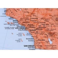 Rand McNally M Penuh-Warna Laminated Peta Dinding Amerika Serikat, 50X32 Inci (RM528960911)-Internasional
