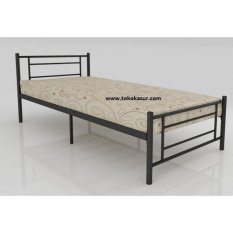 Ranjang Besi Single Orbitrend Tipe Square By Simpati Furniture