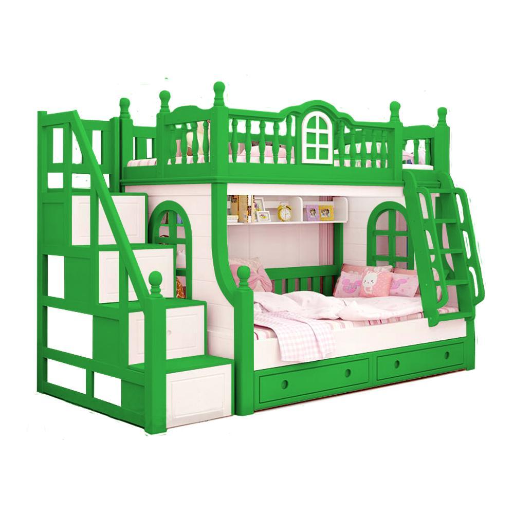 Ranjang Tempat Tidur Tingkat Anak Kt- 0001 ( Green Gust )