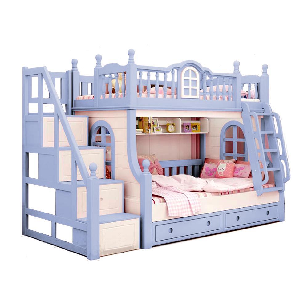 Ranjang Tempat Tidur Tingkat Anak Kt- 0001 ( Pink puff )