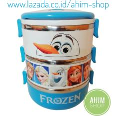 Rantang 3 Susun 2100 ml Lunch Box Stainless Steel Model FROZEN – Tempat Bekal Makanan Koleksi