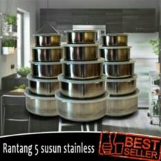 rantang susun 5 stainless / protect fresh box - panci set