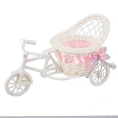 Rotan Becak Sepeda Keranjang Taman Pesta Pernikahan Kamar Tidur Vas Penyimpanan Dekorasi-Intl