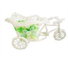 Rotan Becak Sepeda Keranjang Taman Pesta Pernikahan Kantor Vas Dekorasi-Intl